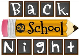 Back To School Night - Thursday, September 20, 2018