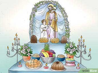 ST. JOSEPH'S ALTAR TOMORROW