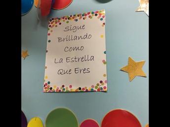 Spanish Motivational Poster in Hallway