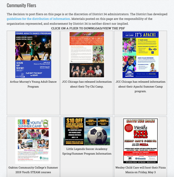Events, Programs & Activities Around the Community