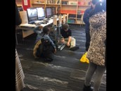 Demonstrating robotics to a potential student