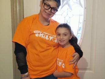 Wearing orange for unity day