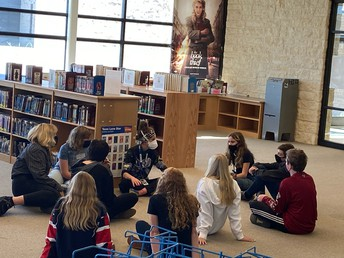 Ms. Bryant meeting with our Student Leaders