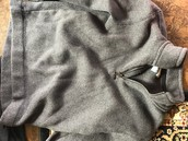 Old Navy gray fleece size 8