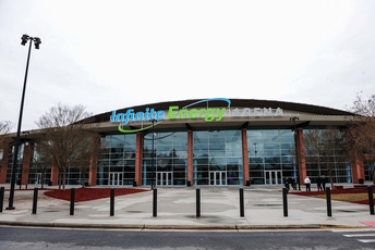 Infinite Energy Arena Entrance for Family and Friends