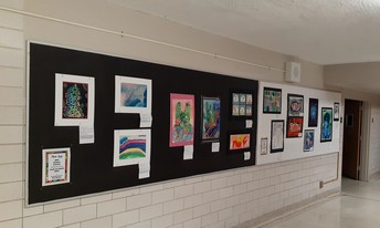 Student art work on display at AMAC