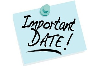 Important Dates This Month