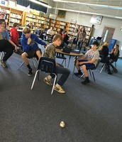8th Graders learning some basic coding using Sphero BB8