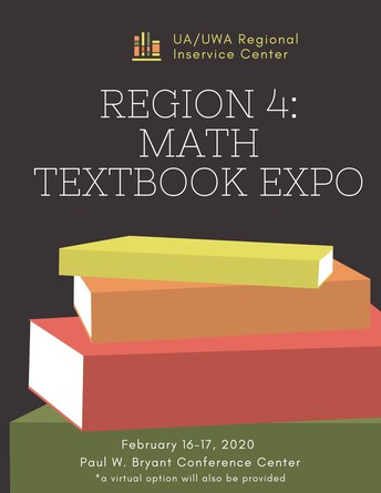 RESCHEDULED DUE TO SNOW! Math Textbook Expo: March 9-10