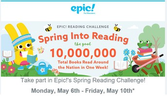 Epic - Spring Into Reading Challenge May 6-10
