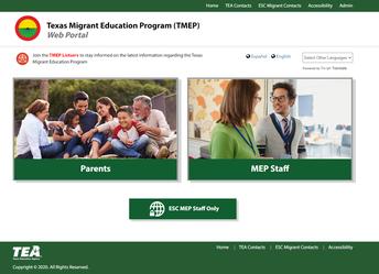 Texas Migrant Portal (TMEP)