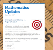 Mathematics Update