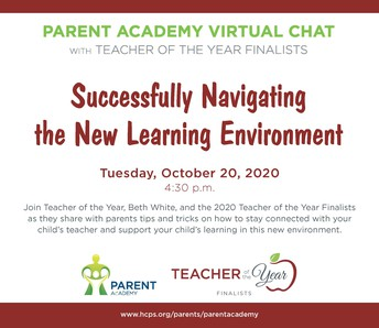Upcoming Parent Academy Event:  Successfully Navigating the New Learning Environment