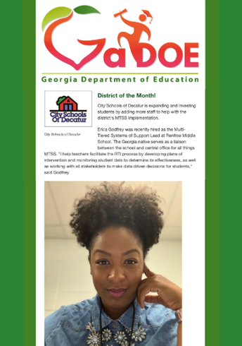 GaDOE highlights Renfroe's Erica Godfrey and CSD as District of the Month