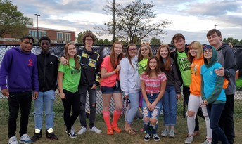 Jazz Central Sang the National Anthem at the Homecoming football game v. Liberty.