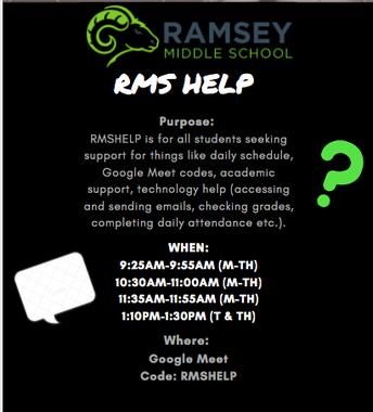 RMSHelp Begins Monday, October 26th