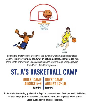 St. A's Basketball Camp