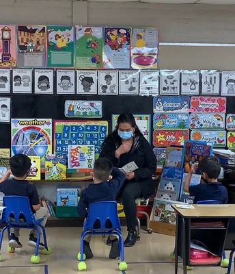 Teacher of the Year Ms. Gomez  (PreK teacher)