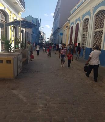 "Downtown   "" Calle del Medio "" view"