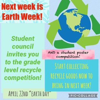 Student Council hosts competition for Earth Week!