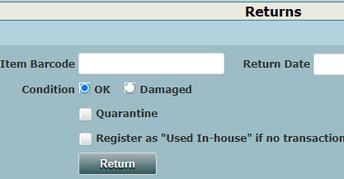 Image of quarantine feature in OPALS