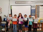 4th grade Perfect Attendance