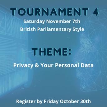 Upcoming British Parliamentary Tournament