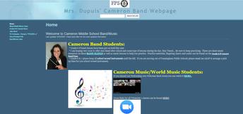 Mrs. Dupuis' Band/Music Website