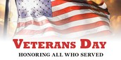 Save the Date: Veterans Day Celebration at BME on November 10th  at 1-2 PM