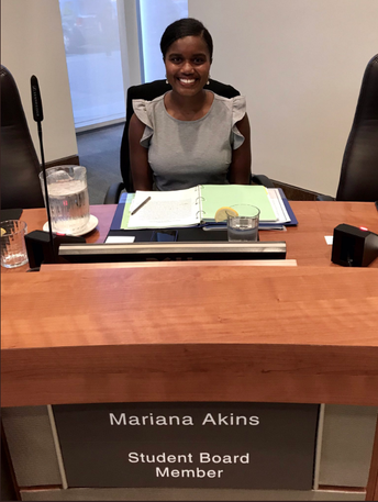 New Student Board Member Mariana Akins