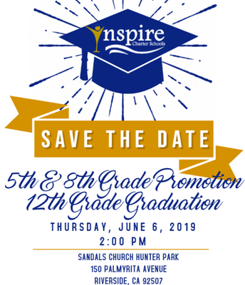 SAVE THE DATE: Riverside County Graduation 2019