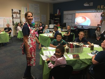"Mrs. Massey's 4th Grade class has a ""Book-Tasting""."