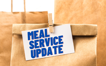 Meal Service Resumes Monday, January 11