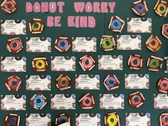 Rm 4 'Donut worry be kind' artwork
