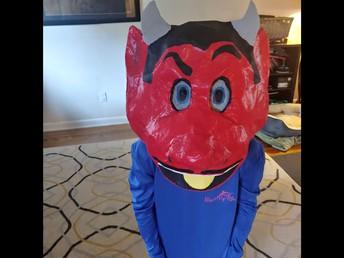 Sam and His Mascot Mask