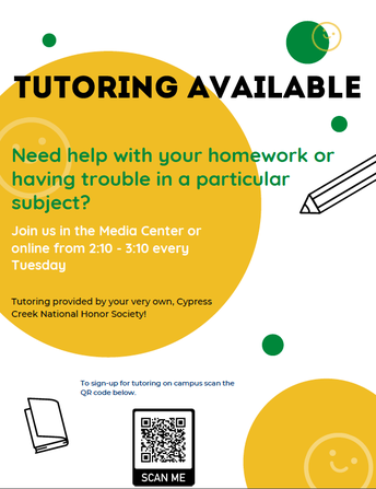Tutoring for Students Every Tuesday!