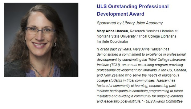 ULS Outstanding Professional Development Award
