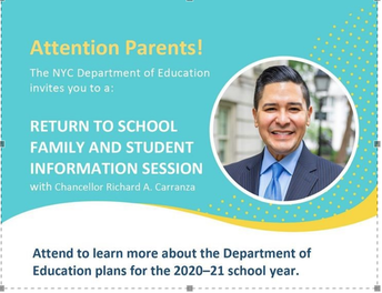 Family and Student Information Sessions: Returning to School, The Latest Guidance from our Health Experts