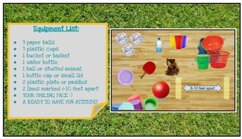 Equipment: PE Play Day - Minute To Win It Challenge