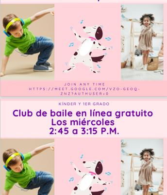 For Kinder & 1st Grade/Para los niños de Kinder y 1º