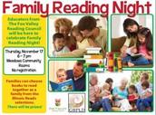 FVRC Family Reading Night  was Nov. 17, 2016