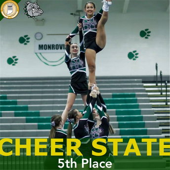 Cheer Places 5th in State