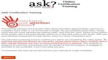 ASK About Suicide To Save A Life Training