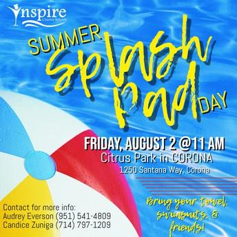 Inspire's Summer Splash Pad Day! CORONA