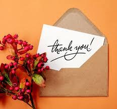 Thanks and Gratitude