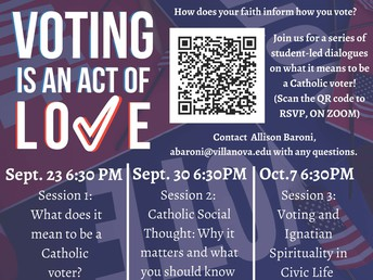 Voting is An Act Of Love Poster