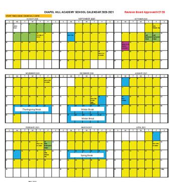 School year at a glance calendar