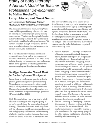 SOEL article in the Michigan Reading Journal
