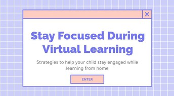 Stay Focused During Online Learning