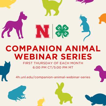 NE 4-H Companion Animal Webinar Series